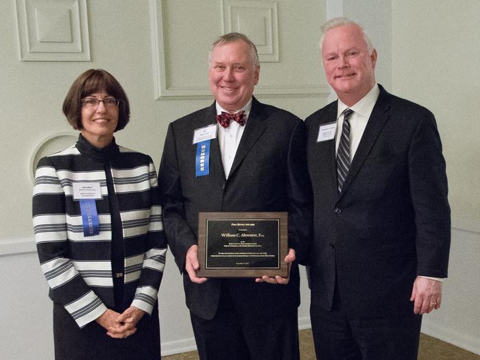 Bill accepts award
